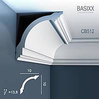 ORAC Decor CB512 BASIXX потолочный багет карниз угловой молдинг лепнина из полистирола   2 м