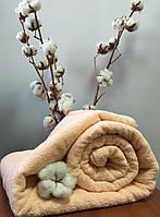 Махровая простынь без резинки 175х200 см, 400 гр/м2 Пакистан, цвет Персик