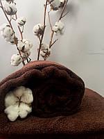 Махровая простынь без резинки 175х200 см, 400 гр/м2 Пакистан, цвет Шоколад