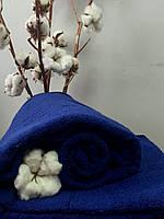 Махровая простынь без резинки 175х200 см, 400 гр/м2 Пакистан, цвет Синий