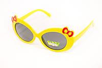 Детские очки для девочки с желтой оправой