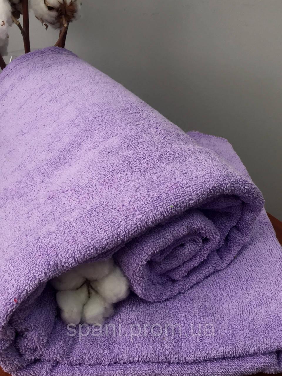 Махровая простынь без резинки 150х200 см, 400 гр/м2 Пакистан, цвет Фиолетовый