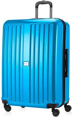 Гигантский голубой чемодан на 4-х колесах HAUPTSTADTKOFFER xberg maxi cyan blue, пластик, 126 л.