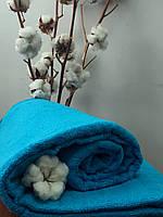 Махровая простынь без резинки 150х200 см, 400 гр/м2 Пакистан, цвет Аква
