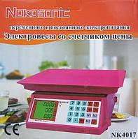 Весы Nokasonic, торговое оборудование, торговые весы Nokasonic NK4017, весы до 40 кг, электронные весы