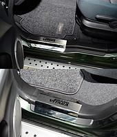 Накладки на пороги Suzuki Grand Vitara II 5D 2005- 4шт. premium
