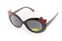 Стильные детские очки для девочки в черной оправе