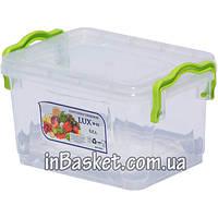 Пищевой контейнер с крышкой для холодильника и микроволновки 0.8 л