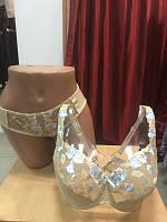 Комплект женского нижнего белья для пышногрудых женщин ТМ Алюр. Бюстгальтер мягкая чашка и трусики слип