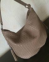 Сумка плетеная мокко
