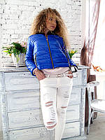 Женская куртка весенняя с норковым воротником 40 42
