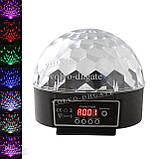 Музичний проектор LED Crystal magic ball light MP3 SD card - світлодіодний диско куля, фото 5