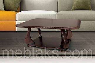 """Стол в гостиную журнальный """"Эдем люкс"""" (косички на торцах столешницы) 100х55х50 см Fusion Furniture, фото 2"""