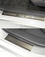 Накладки на пороги Toyota Auris 2013 - 4шт. premium