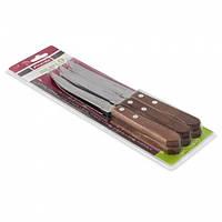 Набор стейковых ножей 6пр. из нержавеющей стали с деревянными ручками (лезвие 11,5см) (a5300)