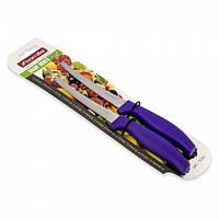 Набор ножей 2 предмета из нержавеющей стали с пластиковыми ручками (лезвие 13 см) Kamille (a5311)