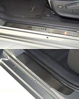 Накладки на пороги Toyota Avensis III 2009 - 4шт. premium