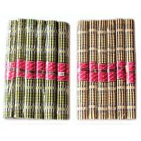 Салфетки под горячее 30 * 45см 6шт бамбуковые (a1041)