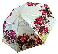 Женский зонт Zest Цветы САТИН (автомат) арт.53624-22