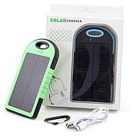Повербанк 5000 mAh, солнечная панель, для iPhone, Samsung, Meizu, Xiaomi и др. смартфонов