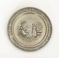 Коллекционная тарелка, тарелочка, олово, Германия, 9 см, фото 1