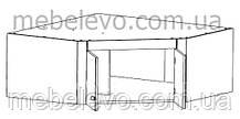 Гербор Капри антресоль угловая 2d 118/62  470х1180х1180мм венге магия , фото 2