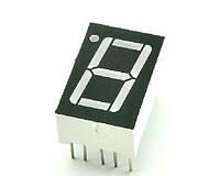 """Цифровой индикатор 7 сегментов, 1 разряд, с общим катодом, дисплей 0.56 """", красный, LED"""