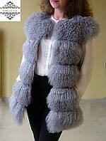 """Красивый  жилет из ламы  """"Виола"""" ,украинский производитель, длина  80 см , фото 1"""