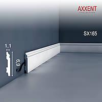 Orac Decor SX165 AXXENT плинтус напольный для скрытой проводки молдинг из дюрополимера 2 м
