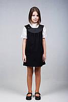 Детская школьная форма  сарафан черный и серый