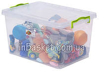 Пластиковый пищевой контейнер с крышкой 23 л