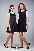 Школьные сарафаны для девочки черный и серый