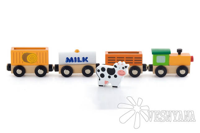 Доп. набор к ж/д Viga Toys Поезд-ферма 50821, фото 2