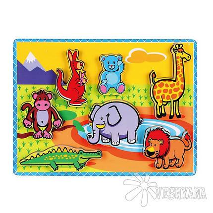 Рамка-вкладыш Viga Toys Животные 56435, фото 2