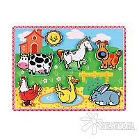 Рамка-вкладыш Viga Toys Домашние животные 56438