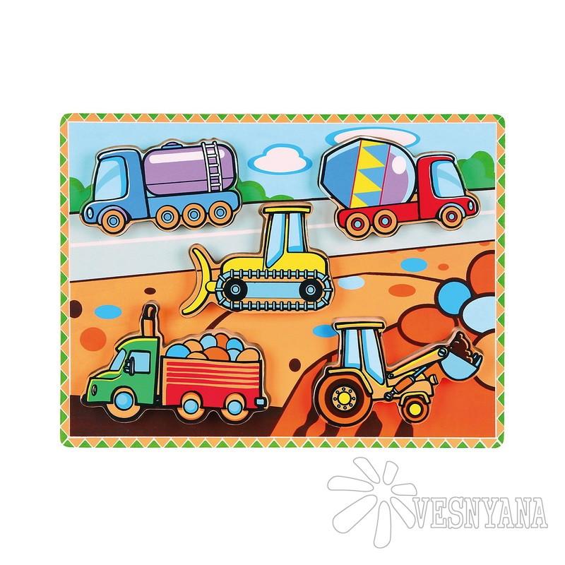Рамка-вкладыш Viga Toys Спецмашины 56439