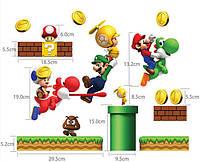 Наклейка виниловая Марио 3D декор