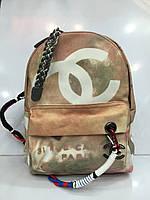 Женская сумка-рюкзак Chanel 1733  граффити, модный текстильный