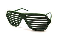 Очки жалюзи для стильной вечеринки зеленые