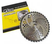 Нож для мотокосы Werk 40T  с победитовыми напайками (255*25,4*1,3мм)