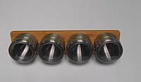 Набор банок для специй (без наполнения) на бамбуковой полке