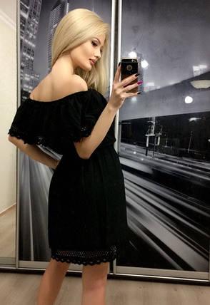 Летнее платье с открытыми плечами ft-267 черное, фото 2
