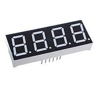 """Цифровой индикатор 5461AS, 7 сегментов, 4 разряда, с общим катодом, дисплей символьный 0.56 """", красный, LED, фото 1"""