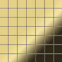 Мозаика из цельного металла прокатная латунь золотого цвета толщиной 1,6 мм ALLOY Attica-BM