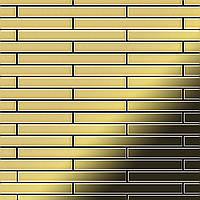 Мозаика из цельного металла прокатная латунь золотого цвета толщиной 1,6 мм ALLOY Avenue-BM