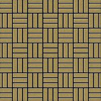 Мозаика из цельного металла шлифованный титан Gold золотого цвета толщиной 1,6 мм ALLOY Basketweave-Ti-GB