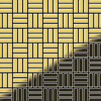 Мозаика из цельного металла прокатная латунь золотого цвета толщиной 1,6 мм ALLOY Basketweave-BM