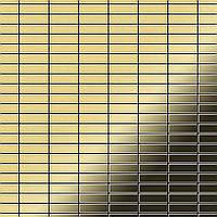 Мозаика из цельного металла прокатная латунь золотого цвета толщиной 1,6 мм ALLOY Cabin-BM