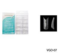 Прозрачные типсы (линия улыбки с вырезом в форме буквы V и отверстием-ромбом) Lady Victory LDV VGO-07 /82-0