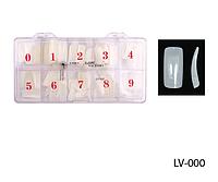 Типсы для наращивания ногтей, матовые (500 шт.) Lady Victory LDV LV-000 /8-2
